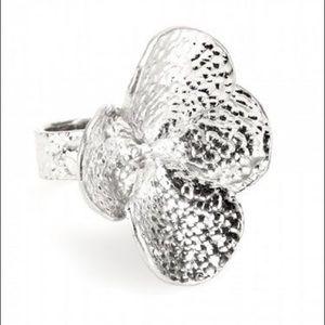 Alexander McQueen Flower and Skull Cocktail Ring